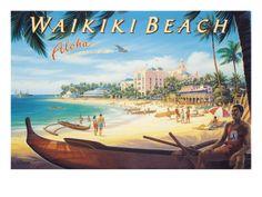 Hawaii Waikiki Beach Aloha Posters  http://www.zimbio.com/Hawaii/articles/EGjg5lwsRag/Hawaii+Waikiki+Beach+Aloha+Posters