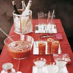 Blood-Orange Punch: Martha Stewart and TV news journalist Ann Curry made this blood orange punch together. Light rum and a dash of bitters offset the sweet juices to perfection. Winter Cocktails, Holiday Cocktails, Holiday Parties, Fun Cocktails, Dinner Parties, Cocktail Parties, Xmas Party, Batch Cocktail Recipe, Cocktail Recipes