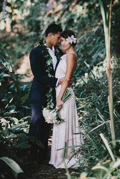 Vintage Hawaiian Wedding Inspiration |  Image by June Photography