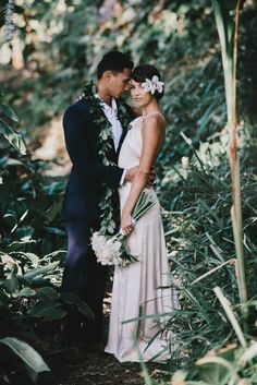 Vintage Hawaiian Wedding Inspiration |  Image by June Photography
