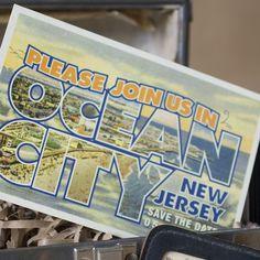Design Fee  Vintage Travel Postcard Save the Date by beyonddesign, $40.00