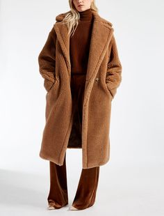 KARINA camel oversized teddy coat is the biggest winter fashion statement! Oversized teddy coat will not only keep you super warm but also stylish! Cold Weather Outfits, Winter Outfits, Red Frock, Fur Decor, Teddy Bear Coat, Types Of Coats, Winter Looks, Winter Style, Outerwear Women
