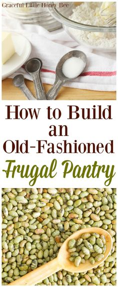 How to Build an Old-Fashioned Frugal Pantry. Check out my list of frugal foods that you should keep in your pantry. Frugal Living Tips, Frugal Tips, Frugal Family, Frugal Meals, Budget Meals, Frugal Recipes, Monthly Budget, Groceries Budget, Freezer Meals