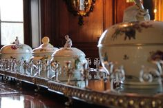 Meissener Porzellan im Speisesaal, Schloss Ahrensburg