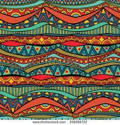 Repeatable ethnic geometric pattern in viv… Bright wavy tribal seamless ornament. Repeatable ethnic geometric pattern in vivid trendy colors. Vector file is Geometry Pattern, Pattern Art, African Tribal Patterns, Africa Art, Aboriginal Art, Textured Background, Tribal Pattern Background, Tribal Art, Indian Art