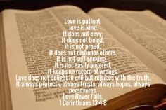 Bible Verse Love Is Patient Love Is Kind