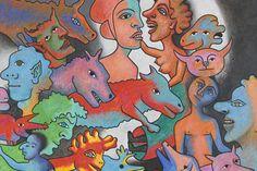 Alfred Pellan, Bestiaire 26e, 1984. (encore une fois je me permets un brin de nostalgie) Alfred Pellan, Beaux Arts Paris, Art Plastique, Art History, Scooby Doo, Illustration, Brin, 1984, Cycle