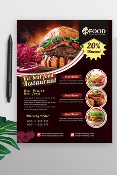 This Restaurant flyer Design is well organized and structured. Food Graphic Design, Food Menu Design, Food Poster Design, Flyer Design, Ad Design, Restaurant Flyer, Restaurant Menu Design, Restaurant Recipes, Corporate Identity Design
