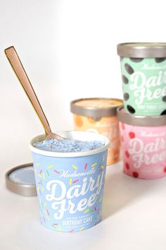 Hudsonville Dairy-Free Ice Cream comes in 7 Celebratory Pint Flavors, from Birthday Cake to Caramel Cookie Dough. Healthy Meals To Cook, Healthy Diet Recipes, Healthy Food Choices, Ice Cream Packaging, Dairy Free Ice Cream, Caramel Cookies, High Calorie Meals, Fresh Fruits And Vegetables, How To Eat Less