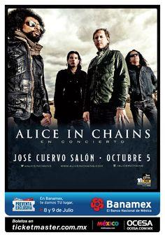 Alice In Chains, Octubre 5, José Cuervo Salón #AliceInChainsMx