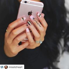 """#repost @misslizheart imPRESS Manicure in """"Vamp It Up"""" + iPhone 6s in rose gold = Perfection! #imPRESSmoments #nails #mani"""