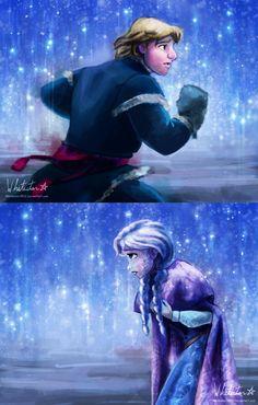 "An Act of True Love by Whitestar1802.deviantart.com on @deviantART - Kristoff and Anna from ""Frozen"""