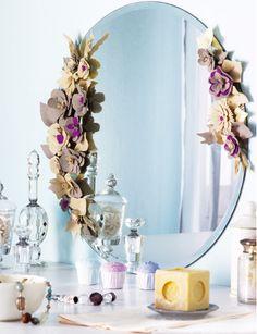 Ideas para decorar un espejo sin marco