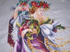 """""""Christmas Flourishes"""" by Mirabilia.  Gorgeous Christmas cross stitch pattern I completed years ago.  One of my favorites."""