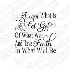 Accept Svg, Let Go Svg, Faith Svg, Religious Svg, Religious Sign Svg, Digital…