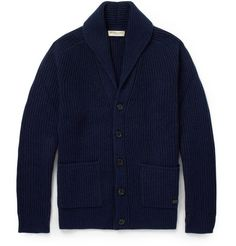 Burberry London Shawl-Collar Cashmere and Wool-Blend Cardigan