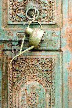 Antique Door With Oil Can
