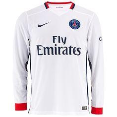 T-Shirt Maillot De Foot Paris Saint-Germain Exterieur Manche Longue 2015 2016 Personnalisé