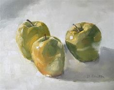 """Daily Paintworks - """"Golden Delicious"""" - Original Fine Art for Sale - © Gary Bruton"""