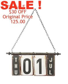 Trendy Perpetual Calendar. One of our most popular items! FIND THIS AND OTHER DESIGNER SELECTED DECOR ACCENTS AT COUNTRY VILLA DECOR ONLINE BOUTIQUE  www.countryvilladecor.com  www.country-villa-decor.com