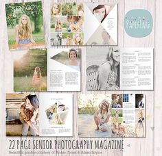 Senior Photography Guide Magazine - 24 Page Template - PG005- INSTANT DOWNLOAD