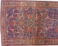 "Persian: Geometric 21' 0"" x 15' 4"" Antique Serapi at Persian Gallery New York - Antique Decorative Carpets & Period Tapestries"