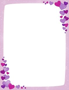 free purple valentine border templates including printable border paper and clip art versions file formats include gif jpg pdf and png