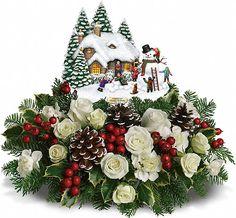 Christmas Arrangements Centerpieces | Canada Flowers > Christmas or Teleflora > Teleflora Christmas > Thomas ...