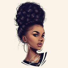 Ideas For Cartoon Art Girl Pictures Black Love Art, Black Girl Art, My Black Is Beautiful, Art Girl, African American Art, African Art, Coiffure Hair, Black Girl Cartoon, Black Art Pictures