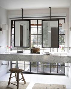 Vosgesparis Is An Interior Design Blog With A Focus On Scandinavian - Ceiling mounted bathroom mirrors