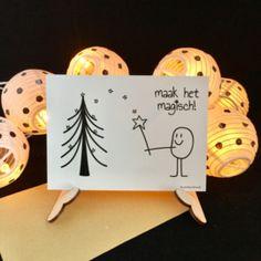 kerstkaart 'maak het magisch'