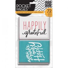 Me & My Big Ideas Pocket Pages Cards - I Love Life | Hey Little Magpie