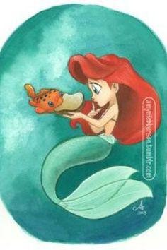 Ariel meets Pudge the fish