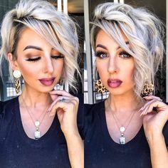 Medium Hair Styles, Curly Hair Styles, Brown Blonde Hair, Brunette Hair, Black Hair, Short Hairstyles For Women, Short Hair Cuts For Women Edgy, Edgy Bob Hairstyles, Emo Haircuts