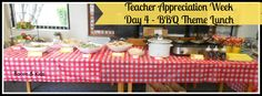 BBQ teacher appreciation theme We have friends that BBQ.  May be able to host lunch one day for the teachers.