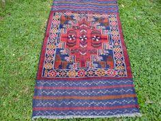 Deep Rich Red Baluchi rug/kilim from Afghanistan. 4ft by BlueTeddy