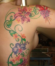 Pink Gladiolus Tattoo, for Little Ally's birth flower.