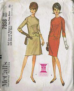 "Vintage One Piece Dress Sewing Pattern McCalls 7956 Sz 14 5 Bust 35 Hip 39"" Cut | eBay"