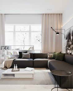 Minimalist Living Room Design Ideas - Wanting to enhance and refine your living space? Right here minimalist living-room that will certainly motivate your spring-cleaning efforts. Apartment Interior Design, Interior Design Living Room, Modern Interior, Modern Decor, Living Room Designs, Living Room Decor, Brown Interior, Classic Interior, Living Rooms