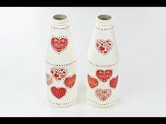 Decoupage Plastic Bottles - Fast & Easy Tutorial - DIY - YouTube