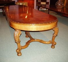 An antique dining table.
