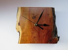 Handmade Yew wood Clock