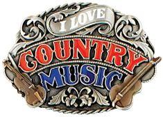 boucle de ceinture GS-44 Il love country music  buckles  countrystyle   fashion e1c44810cf8
