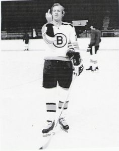 Wayne Cashman, flipping off the camera (boston bruin)