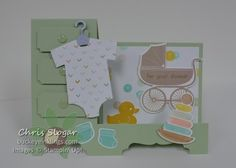 Something for Baby and Baby's First Framelits to create a fun Stair Step card.
