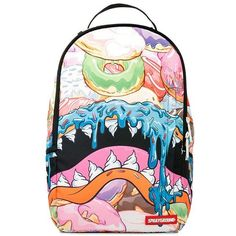 Sprayground Men Donut Shark Dlx Printed Backpack (9980 RSD) ❤ liked on Polyvore featuring men's fashion, men's bags, men's backpacks, multi and mens backpacks