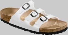 Birkenstock Sandals ''Florida'' from Birko-Flor in Graceful Rosa with a regular insole Birkenstock Slippers, Pink Slides, Slipper Boots, Birkenstock Florida, Wide Feet, Debenhams, Boys Shoes, Mules Shoes, Slide Sandals