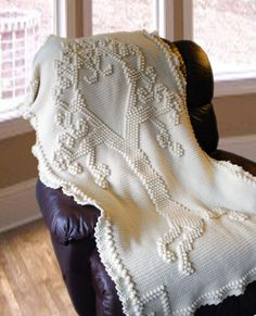 Looking for your next project? You're going to love Tree of Love Heirloom Afghan by designer Deja Jetmir.