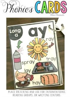 Phonics cards alphabet, CVC, long vowels, beginnning blends and more, Great for interventions, flash cards, reading groups, and small…