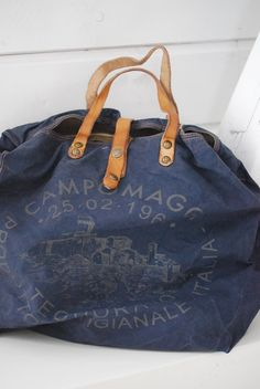 Campomaggi Canvas and Leather Bag